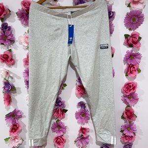 NWT Adidas Heather Grey Sweatpants Leggings